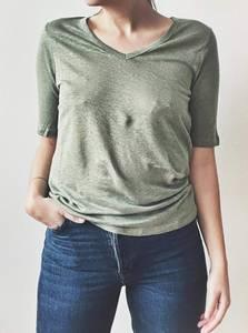 Bilde av OilGreen - Lin T-skjorte