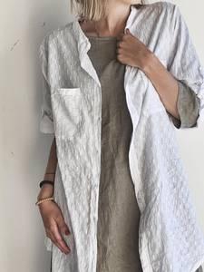 Bilde av Hvit - Jaquard Skjorte